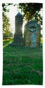 Memphis Elmwood Cemetery - Backlit Grave Stones Beach Towel