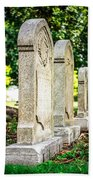 Memphis Elmwood Cemetery Monument - Four In A Row Beach Towel