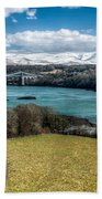 Menai Bridge 1819 Beach Towel