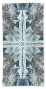 Mendenhall Glacier Cross Beach Towel