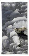 Mendenhall Lake Ice Abstract Beach Towel