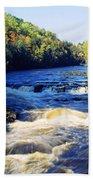 Menominee River At Piers Gorge, Upper Beach Towel