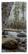 Merced River From Happy Isles Beach Towel
