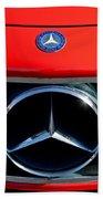 Mercedes-benz 300 Sl Grille Emblem Beach Towel