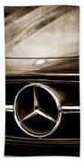 Mercedes-benz Grille Emblem Beach Towel