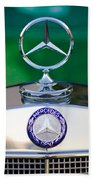 Mercedes Benz Hood Ornament 3 Beach Towel