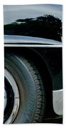 Mercedes-benz Wheel Emblem Beach Towel
