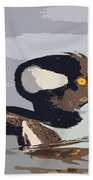 Merganser Reflections Beach Towel