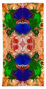 Merging Consciousness With Abstract Artwork By Omaste Witkowski  Beach Towel