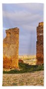 Merinid Tombs Ruins In Fes In Morocco Beach Towel