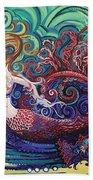 Mermaid Gargoyle Beach Towel