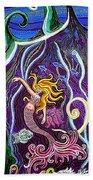Mermaid Under The Sea Beach Towel