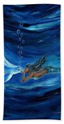 Mermaids Dolphin Buddy Beach Towel
