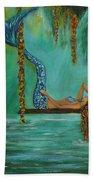 Mermaids Relaxing Evening Beach Towel