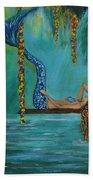 Mermaids Relaxing Morning Beach Towel