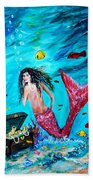 Mermaids Treasure Beach Towel