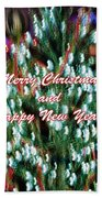 Merry Christmas 2 Beach Towel by Skip Nall
