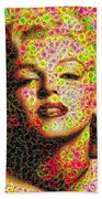 Marilyn - Colored Diamonds Beach Towel