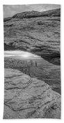 Mesa Arch Sunrise Bw Beach Towel