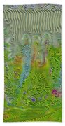 Meshed Tree Abstract Beach Towel by Liane Wright