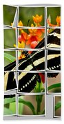 Messed Up Butterfly Beach Towel by Jean Noren