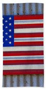 Metal American Flag Beach Sheet