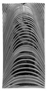 Metal Strips In Black And White Beach Towel