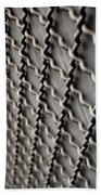 Metal Texture Forms Beach Towel