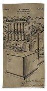 Metal Working Machine Patent Beach Towel
