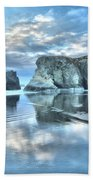 Metallic Cloud Reflections Beach Towel