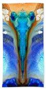 Metamorphosis - Abstract Art By Sharon Cummings Beach Sheet