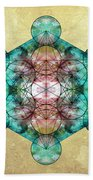 Metatron's Cube Beach Towel by Filippo B