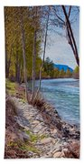 Methow River Coming From Mazama Beach Towel by Omaste Witkowski