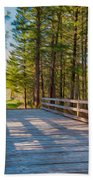 Methow Valley Community Trail At Wolf Creek Bridge Beach Towel by Omaste Witkowski