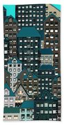 Metropolis Eight Beach Towel