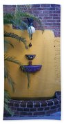 Mexican Courtyard Beach Towel