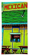 Mexican Grill Beach Towel by Chris Berry