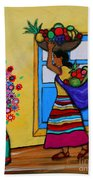 Mexican Street Vendor Beach Towel
