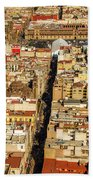 Mexico City Cathedral And Zocalo Beach Towel by Jess Kraft