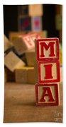 Mia - Alphabet Blocks Beach Towel