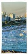 Miami Beach Sunset Beach Towel