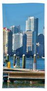 Miami On The Docks Beach Towel