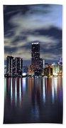 Miami Skyline Beach Towel