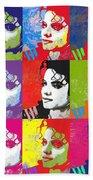 Michael Jackson Andy Warhol Style Beach Towel