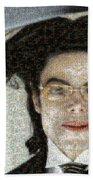 Michael Jackson - Fly Away Hair Mosaic Beach Towel