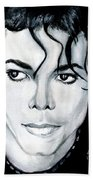 Michael Jackson Portrait Beach Towel