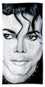 Michael Jackson Portrait Beach Sheet