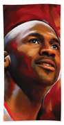 Michael Jordan Artwork 2 Beach Towel