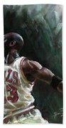 Michael Jordan Beach Towel by Ylli Haruni