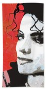 Michael Red And White Beach Towel